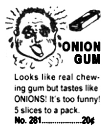 Onion Gum Advert