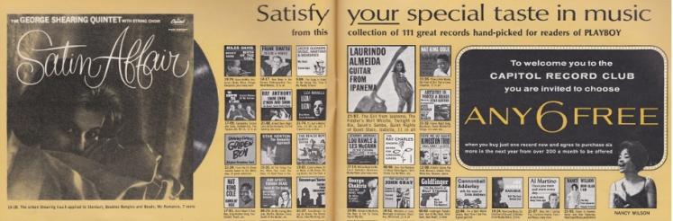 Playboy Capitol Record Club Advert