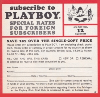 Subscribe to Playboy Card